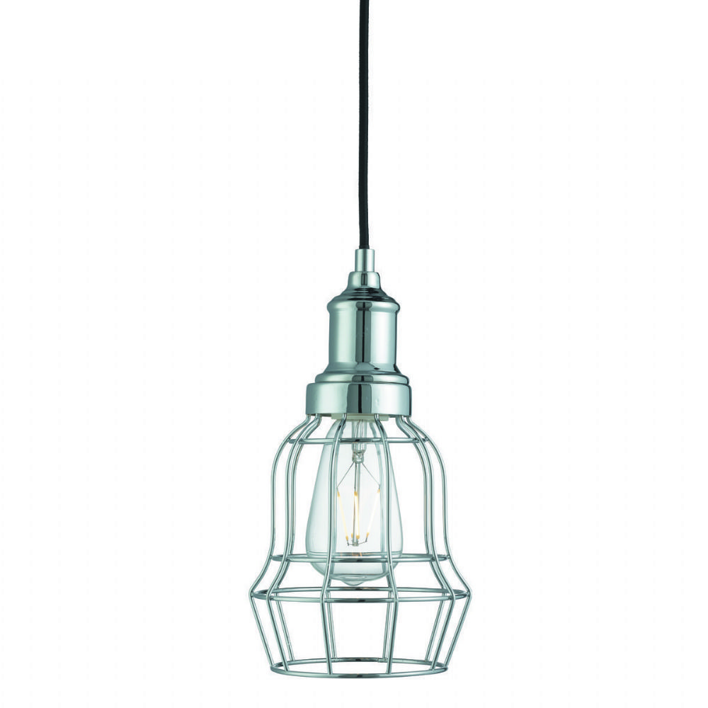 Bell Cage 1 Light Chrome Cage Pendant (Class 2 Double Insulated) Bx6847Cc-17